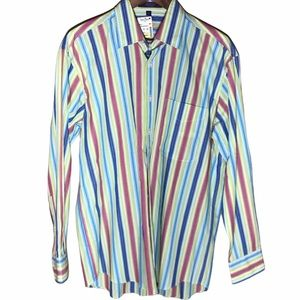 Alan Flusser Long Sleeve Striped Dress Shirt